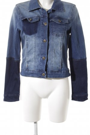 Tom Tailor Denim Jeansjacke weiß-stahlblau meliert Casual-Look
