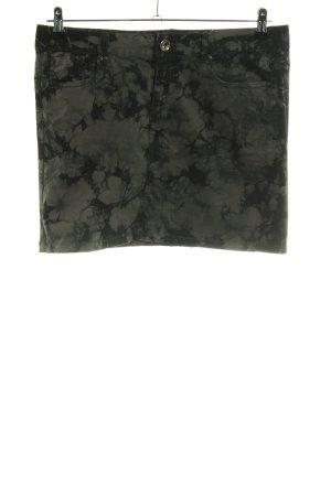 Tom Tailor Denim Jeansrock khaki-schwarz Allover-Druck Casual-Look