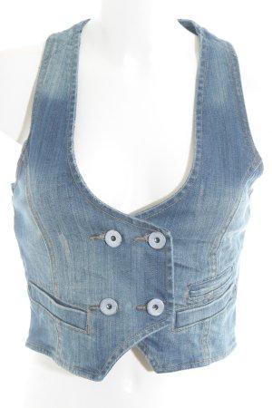 Tom Tailor Denim Jeansweste graublau schlichter Stil