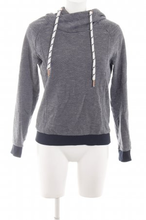Tom Tailor Denim Hooded Sweater dark blue-natural white casual look