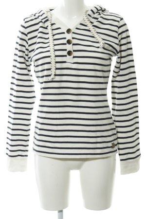 Tom Tailor Denim Kapuzensweatshirt Streifenmuster Casual-Look