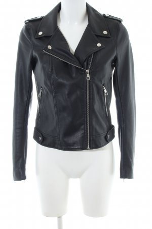 Tom Tailor Denim Kunstlederjacke schwarz Casual-Look