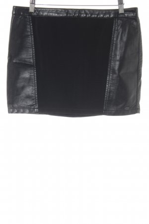 Tom Tailor Denim Kunstlederrock schwarz Casual-Look