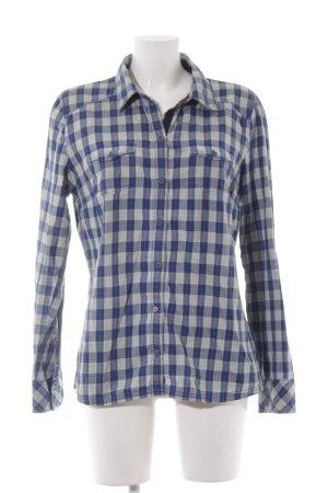 Tom Tailor Denim Langarmhemd blau-graugrün Karomuster Country-Look