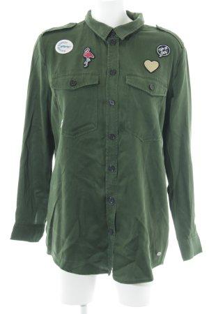 Tom Tailor Denim Langarmhemd waldgrün Mustermix Street-Fashion-Look
