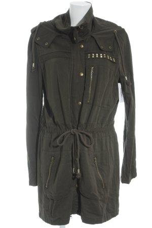Tom Tailor Denim Lange Jacke olivgrün Nietenelemente