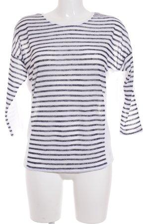 Tom Tailor Denim Longsleeve weiß-dunkelblau Streifenmuster Casual-Look
