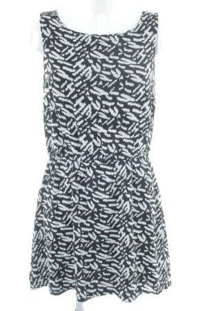 Tom Tailor Denim Minikleid schwarz-weiß abstraktes Muster Casual-Look