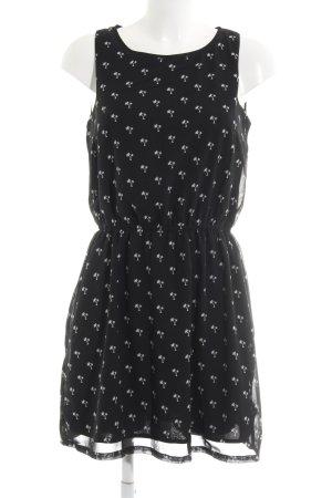 Tom Tailor Denim Minikleid schwarz-weiß Motivdruck Casual-Look