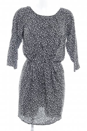 Tom Tailor Denim Minikleid schwarz-weiß Punktemuster Casual-Look