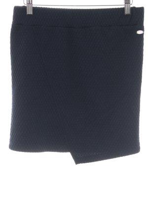 Tom Tailor Denim Minirock dunkelblau abstraktes Muster Casual-Look