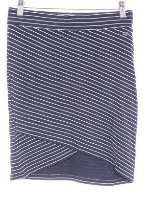 Tom Tailor Denim Minirock dunkelblau-weiß Ringelmuster Casual-Look