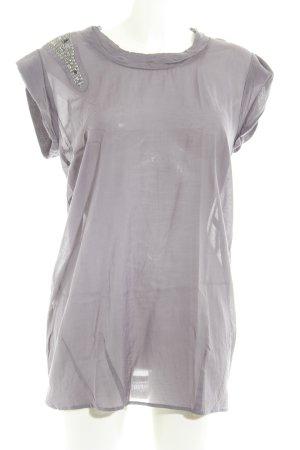 Tom Tailor Denim Oversized shirt grijs-paars Jaren 90 stijl