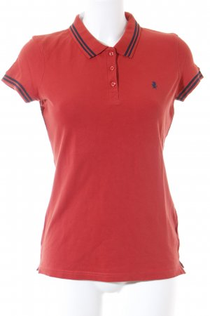 Tom Tailor Denim Camiseta tipo polo rojo look casual