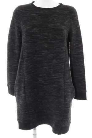 Tom Tailor Denim Sweaterjurk zwart-donkergrijs gestippeld casual uitstraling