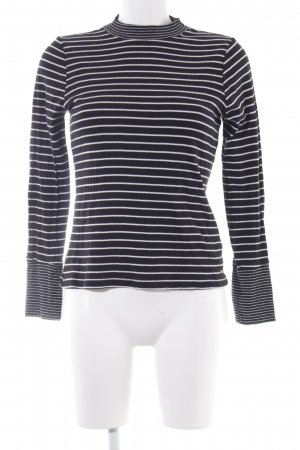Tom Tailor Denim Ribbed Shirt white-black striped pattern casual look
