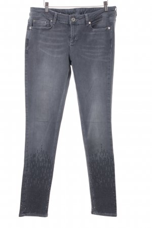 Tom Tailor Denim Röhrenjeans grau abstraktes Muster Casual-Look