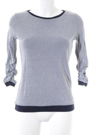 Tom Tailor Denim Jersey de cuello redondo azul oscuro-blanco look casual