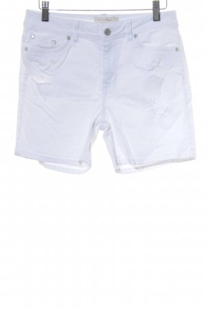 Tom Tailor Denim Shorts weiß Destroy-Optik