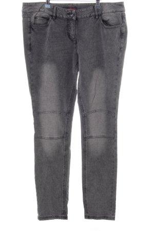 Tom Tailor Denim Skinny Jeans hellgrau Allover-Druck Casual-Look