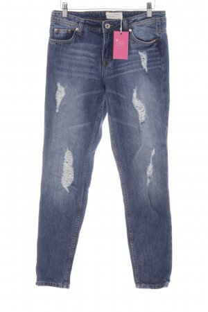 Tom Tailor Denim Slim Jeans graublau Destroy-Optik