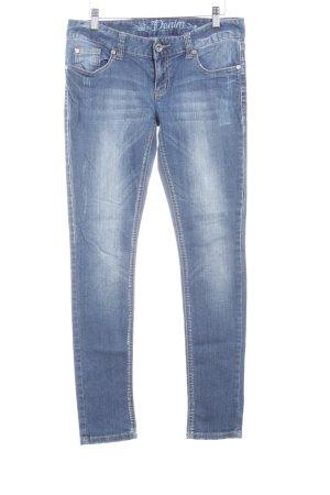 Tom Tailor Denim Slim Jeans stahlblau Used-Optik