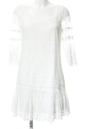 Tom Tailor Denim Vestido de encaje blanco puro estilo fiesta