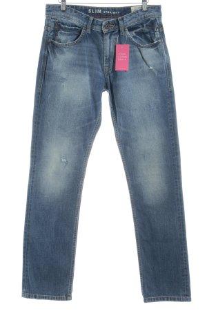 Tom Tailor Denim Straight-Leg Jeans blau Destroy-Optik