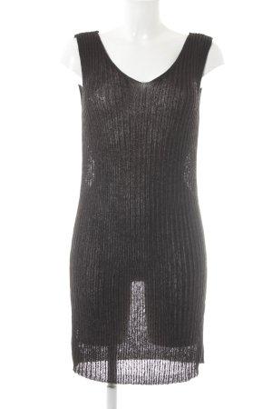 Tom Tailor Denim Gebreide jurk donkerbruin casual uitstraling