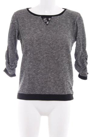 Tom Tailor Denim Strickshirt schwarz-weiß meliert Casual-Look