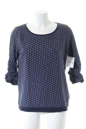 Tom Tailor Denim Sweatshirt donkerblauw-wit gestippeld patroon