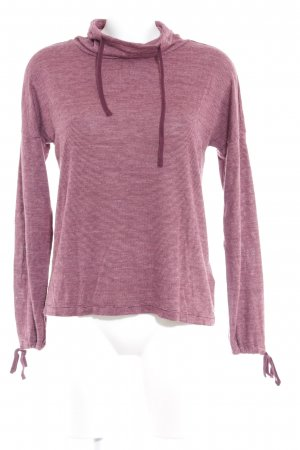 Tom Tailor Denim Sweatshirt rosa-lila sportlicher Stil