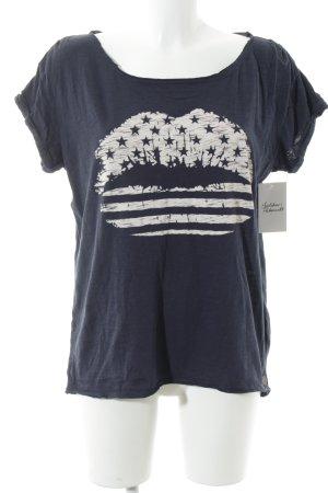 Tom Tailor Denim T-Shirt dunkelblau Casual-Look
