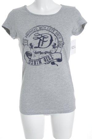 Tom Tailor Denim T-Shirt hellgrau Casual-Look