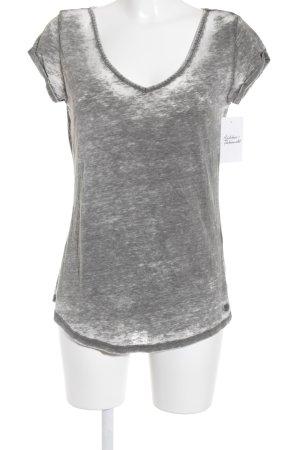 Tom Tailor Denim T-Shirt hellgrau-grüngrau Farbverlauf Casual-Look