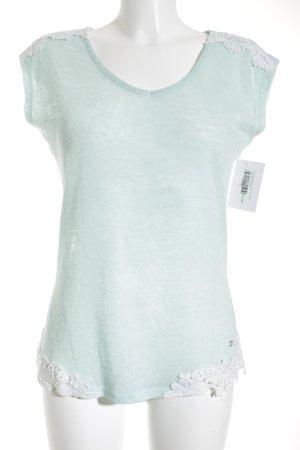 Tom Tailor Denim T-Shirt mint-weiß minimalistischer Stil