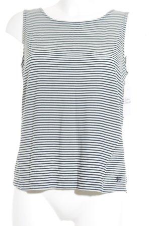 Tom Tailor Denim Tanktop weiß-dunkelblau Streifenmuster Beach-Look