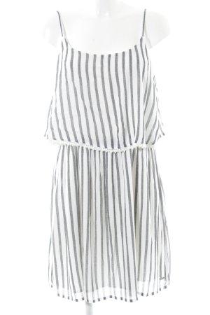 Tom Tailor Denim Trägerkleid weiß-hellgrau Streifenmuster Casual-Look
