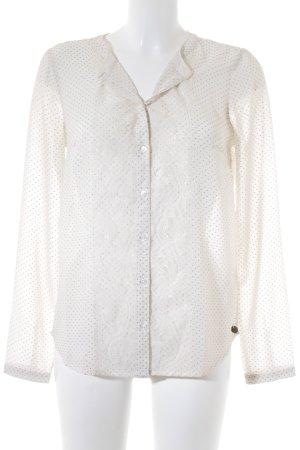Tom Tailor Denim Transparenz-Bluse creme-goldfarben Spitzen-Optik