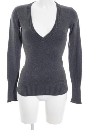 Tom Tailor Denim V-Ausschnitt-Pullover dunkelgrau Casual-Look