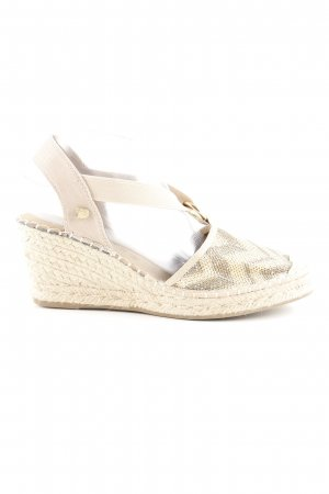 Tom Tailor Denim Wedges Sandaletten Zackenmuster Hippie-Look