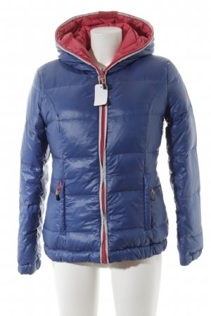 Tom Tailor Denim Winterjacke stahlblau-magenta Steppmuster Street-Fashion-Look