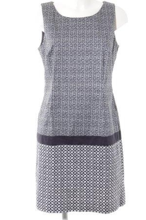 Tom Tailor Etuikleid weiß-dunkelblau abstraktes Muster Elegant