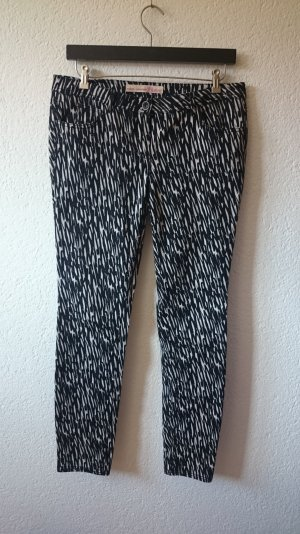 TOM TAILOR Extra Skinny Denim in schwarz-weiß Animalprint, W30