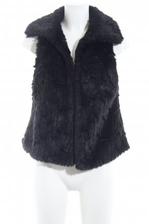 Tom Tailor Smanicato di pelliccia nero elegante