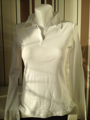 Tom Tailor Gr M Langarmshirt Weiß
