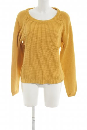Tom Tailor Coarse Knitted Sweater light orange casual look