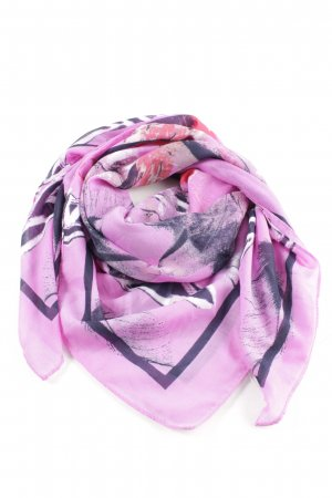 Tom Tailor Neckerchief pink abstract pattern