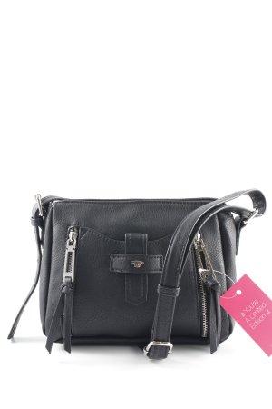 Tom Tailor Handtasche schwarz-silberfarben Casual-Look