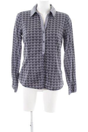 Tom Tailor Hemd-Bluse schwarz-blau abstraktes Muster Casual-Look